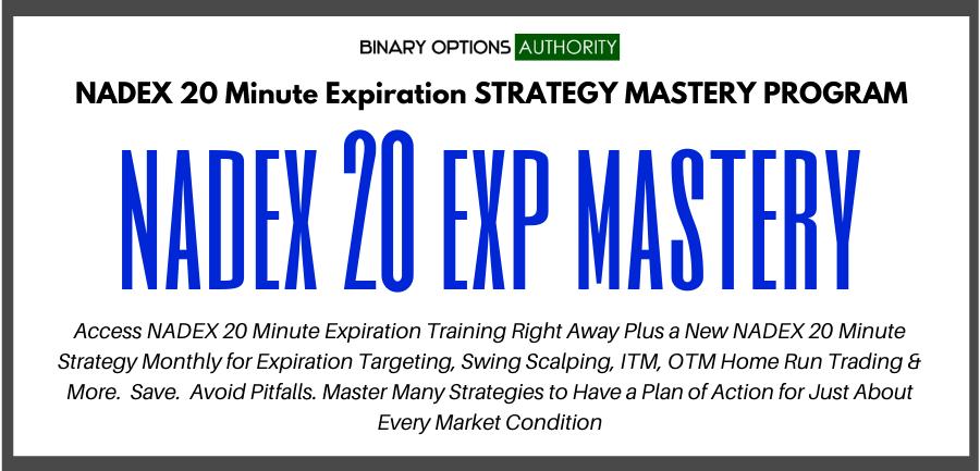 nadex 20 exp masters