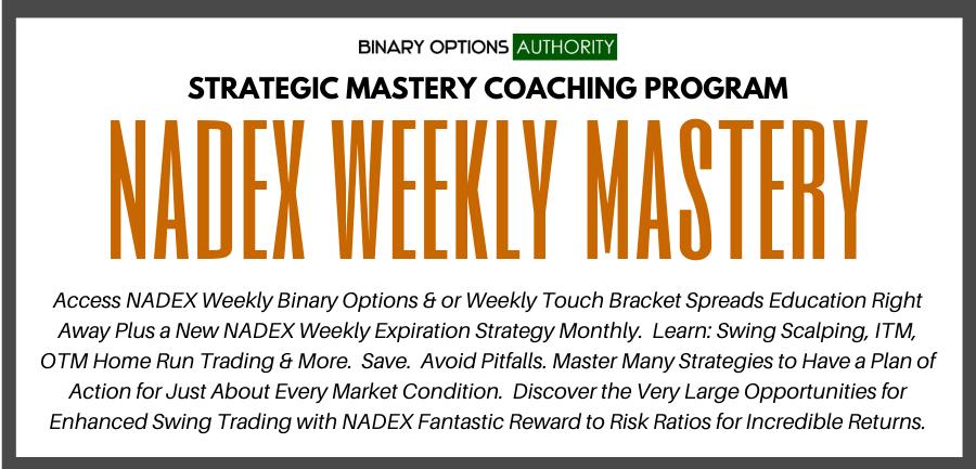nadex weekly masters